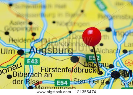 Furstenfeldbruck pinned on a map of Germany