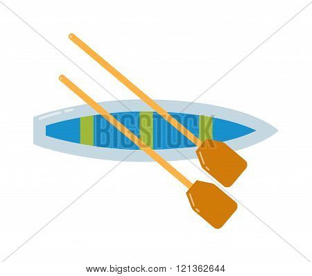 Rowing sports vector illustration.