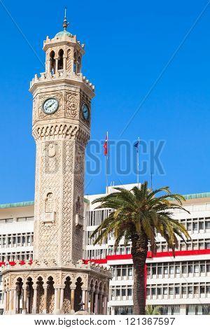 Historical clock tower, Izmir city, Turkey
