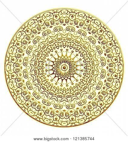 Gold mandala png