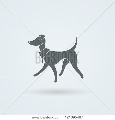 Vector Symbol of Pretty Walking Italian Greyhound