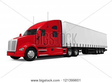 Red Trailer Truck