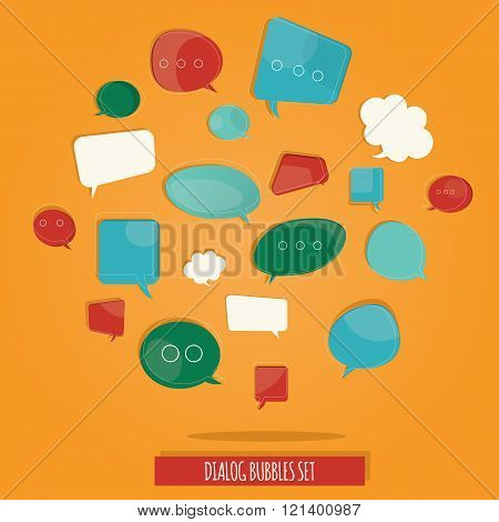 Vector Illustration Of Brightness Colorful Questions Speech Bubbles Set