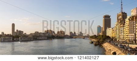 Central Cairo And Nile River Panoramic