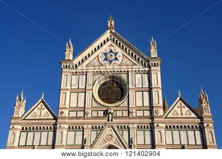 Santa Croce (holy Cross) Facade In Florence