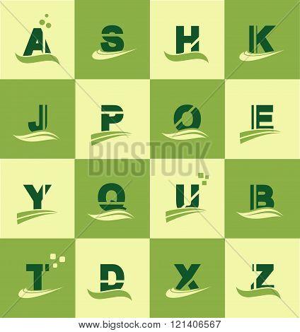 Alphabet Logo Icon Set Letter