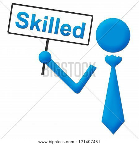 Skilled Human Holding Signboard