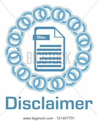 Disclaimer Blue Rings Circular