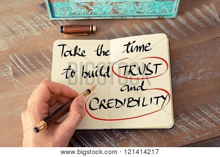 Text Take The Time To Build Trust And Credibility