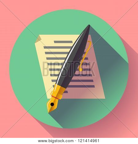 Edit document sign symbol icon vector. Flat designed style.