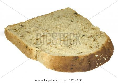 Slice Of Bread Isolated With Clipping Path