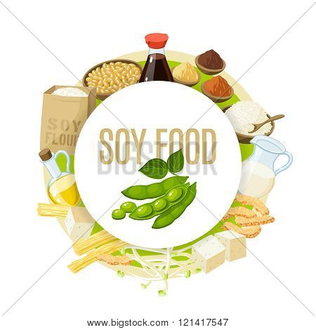 Soy food label.