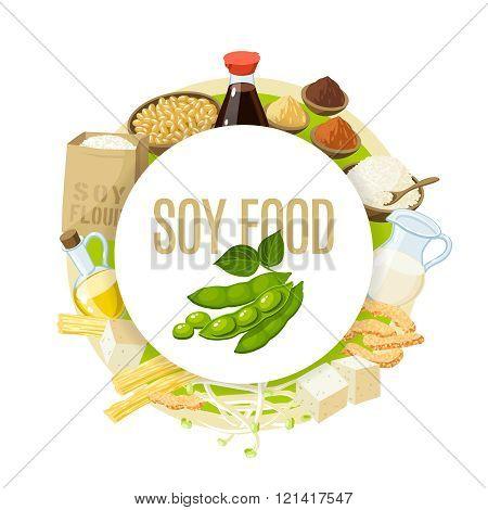 Soy food label.
