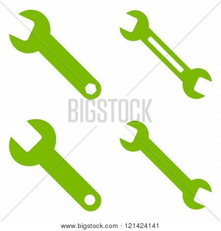 Wrench Flat Vector Symbols