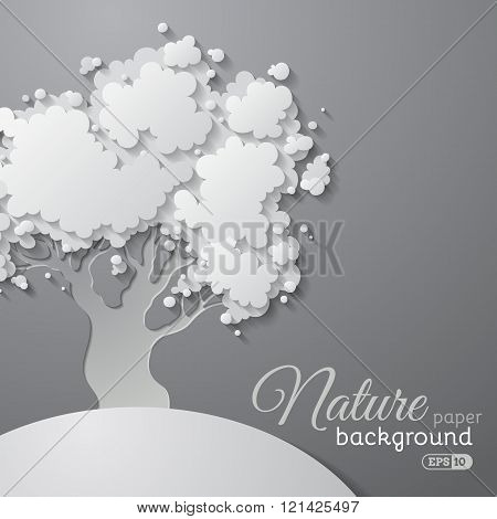 Paper Tree Background.