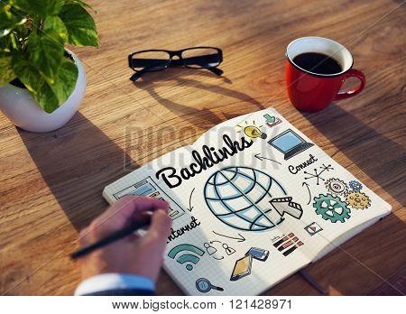 Backlinks Technology Online Web Concept