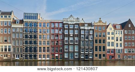 Canal Houses In Amsterdam, Netherlands