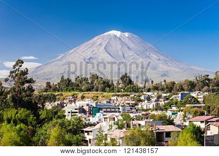 Misti also known as Putina is a stratovolcano located in Arequipa Peru poster