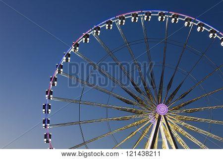 Big wheel in the city of Paris Ile-de-france France
