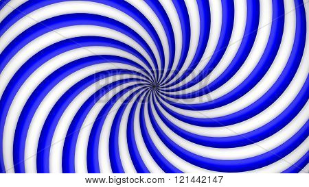 Blue and white rotating hypnosis spiral