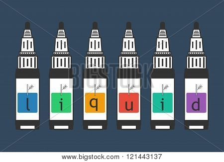 liquid for electronic cigarette vaping