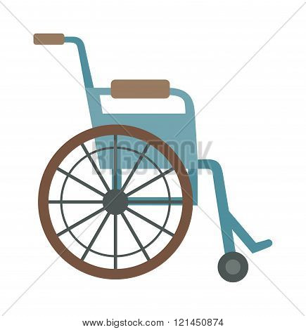 wheelchair flat design medical icon.