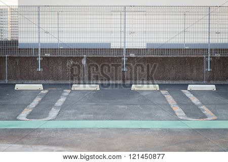 Outdoor Empty Space in a car parking Lot