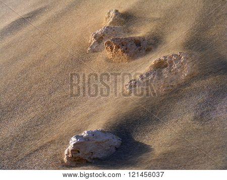 blowing sand