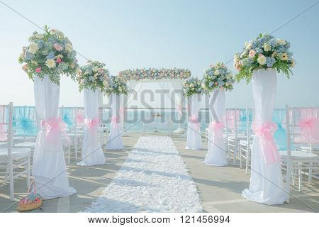 Wedding on the beach, Tropical settings for a wedding on a beach - Bali island