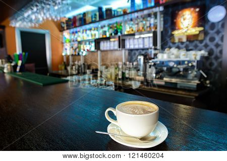Cappuccino at the bar
