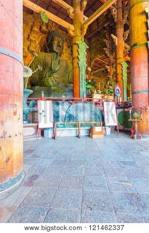 Daibutsu Statue Profile Interior Todai-ji Temple V