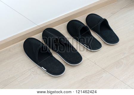 Black Home Slippers