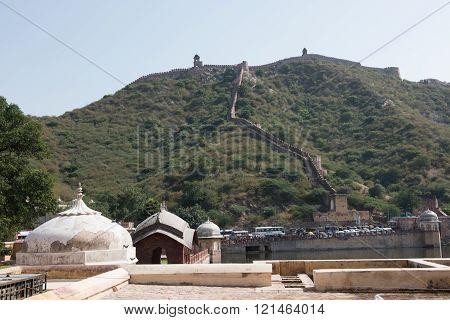 Aravalli Hills and Amer Fort