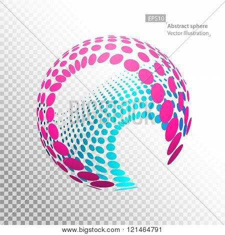 Linear sphere, technology concept