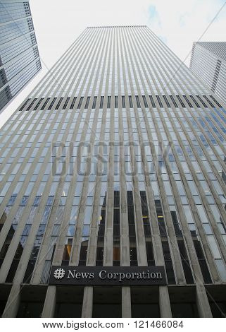 News Corporation headquarters building in New York City