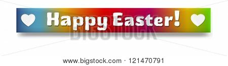 the colorful Easter web banner with subtle shadow
