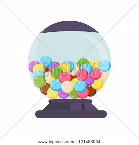 Vector Gumball Machine Illustration.
