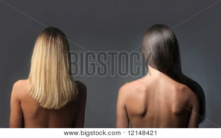 two back of woman