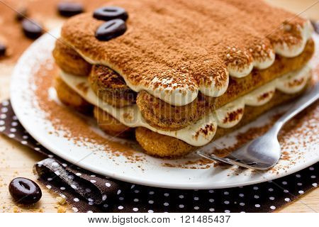 Tiramisu Cake Close-up