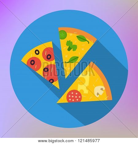 Pizza Slice Icon vector flat icon