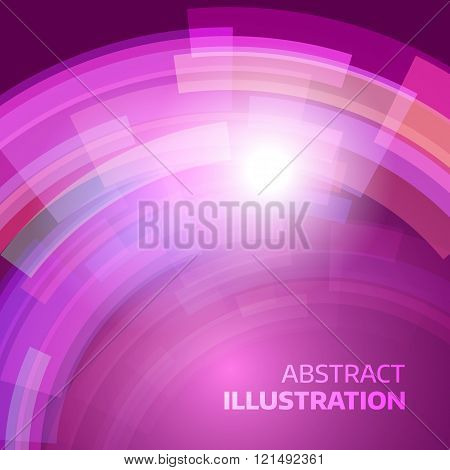 Techno vector backdrop. Abstract future background. Decoration with electric light. Future presentation concept. Vibrant illustration. Presentation template.