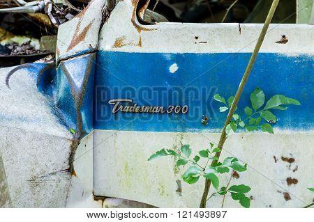 Old Dodge Tradesman Van Wrecked