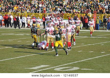 Aaron Kampman Of The Green Bay Packers Defense Celebrates
