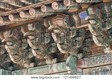Roof Support System Of Daeungbojeon