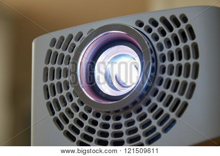 Closeup Of Beam Projector
