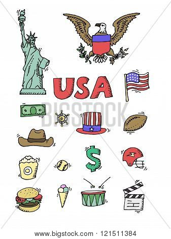 American Doodle set color