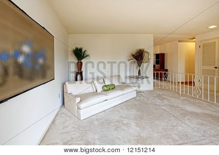 Almost Empty Living Room Of Older Home From Sixties