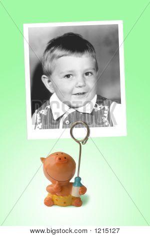 altes Photo glücklich Kind