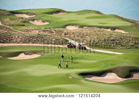 Golf Resort With The Scenery Of The Sea
