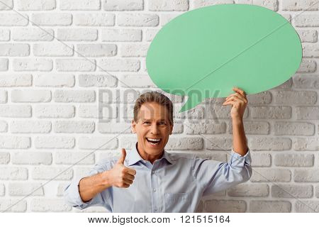 Man With Speech Bubbles